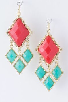 Fiery Margot Earrings on Emma Stine Limited