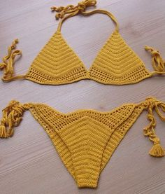 EXPRESS CARGO!!! Yellow Crochet Bikini, Women Swimsuit, Bathing suit, 2017 Summer Trends /// FORMALHOUSE