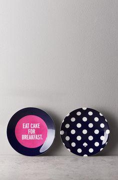 Kate Spade dessert plates? Don't mind if we do.