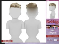 Sweet hair for little boys. From Redheaded Sims! - Sweet hair for little boys. From Redheaded Sims! You need to know the website - Sims 4 Toddler Clothes, Sims 4 Mods Clothes, Sims 4 Cc Kids Clothing, Teen Clothing, Children Clothing, Sims 4 Hair Male, Sims 4 Black Hair, The Sims 4 Pc, Sims Cc