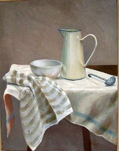 Petra Reece, Still life with old dutch ladle, 2005