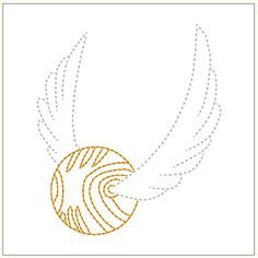 INSTANT DOWNLOAD  ~ GET THIS DESIGN WITHIN SECONDS IN YOUR COMPUTER ~    Golden Snitch    Perfect for the Seeker in your life this design is great