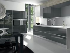 küche in anthrazit #küchenzeile www.dyk360-kuechen.de | küchen, Hause ideen