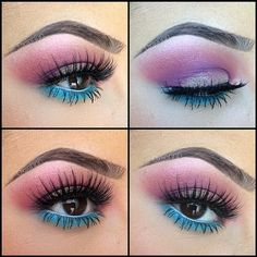 Lunatic Vixen Tutorial 80s Eye Makeup Hairmakeup In 2019 Eye - 80s-eye-makeup