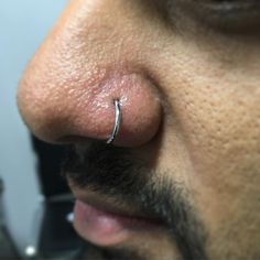 @anatometalinc captive bead ring nostril piercing. Brad rotated to inside. #nostrilpiercing #captivebeadring  (at Golden Horseshoe Tattoos & Piercing)