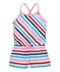 Look what I found on #zulily! Pink & Blue Stripe Romper - Toddler & Girls by Hatley #zulilyfinds