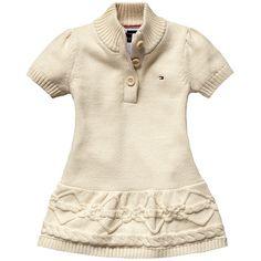 Tommy Hilfiger Baby-M/ädchen Girl Velours Dress Kleid