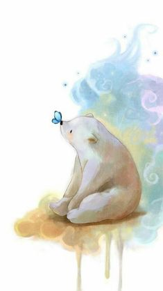 64 trendy Ideas baby drawing illustration polar bears - New Ideas Art And Illustration, Illustration Mignonne, Illustrations, Butterfly Illustration, Polar Bear Illustration, Baby Drawing, Painting & Drawing, Art D'ours, Art Mignon
