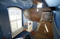 $40,000 pirate ship bedroom for a kid. Holy...