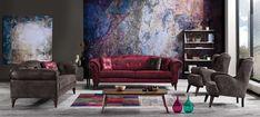 Canapea extensibila 3 locuri Diesis Grey K1 #homedecor #inspiration #interiordesign #livingroom #design #decoration #sofa #house Interior Design, Modern, House, Painting, Sofa, Decoration, Home Decor, Board, Blog