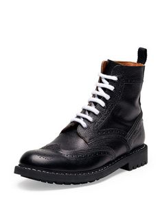 Commando Leather Runway Boot by Givenchy