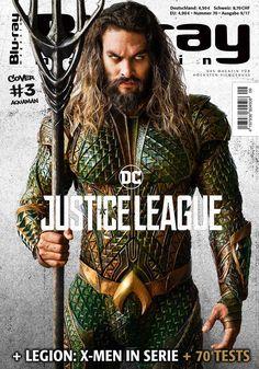 Jason Momoa as Aquaman in Bluray Magazine Jason Momoa Aquaman, Khal Drogo, Dc Comics Characters, Marvel Comic Character, X Men, Dc Movies, Comic Movies, Comic Book, Taylor Kitsch