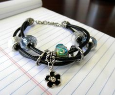 Flower Charm & Leather Bracelet project on Craftsy.com