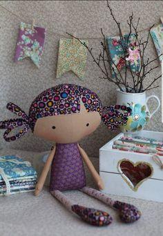 Doll Sewing Patterns, Sewing Dolls, Doll Clothes Patterns, Pretty Dolls, Beautiful Dolls, Fabric Dolls, Paper Dolls, Dolls And Daydreams, Tilda Toy