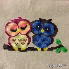 Owls perler beads by legit8bit