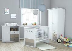 Bon Chambre Bébé Contemporaine Coloris Blanc/argile Nuage