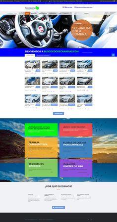 Diseño Web BuscoCocheCanarias · Compra Venta de Vehículos Nuevos y Usados · Los Cancajos · La Palma #diseñoweb #webdesign #LaPalma