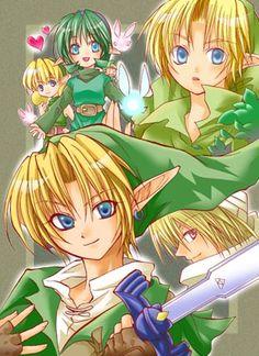 Little Angels - Link, Zelda, Saria 2002 artwork