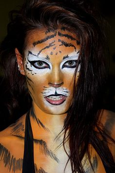 tiger face paint women - Google Search