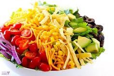 Skinny Taco Salad Recipe   gimmesomeoven.com