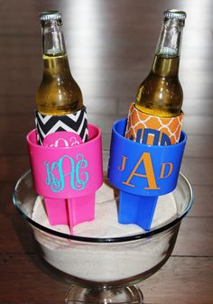 Beach Cup Holder - Monogrammed. $15.50, via Etsy. NEED!!!