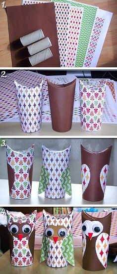 Roll of toilet paper owls - wc-papírguriga baglyok