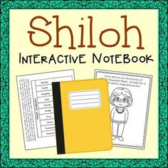 Shiloh Interactive Notebook Novel Unit Study. Includes author biography, vocabulary words, poetry, themes, and chapter summary activities. NO boring multiple choice questions!