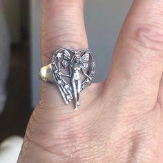 Sterling Silver Fairy Heart Ring 8 on Mercari Grunge Jewelry, Hippie Jewelry, Cute Jewelry, Jewelry Rings, Jewelry Accessories, Fairy Jewelry, Fairy Ring, The Bling Ring, Bracelets