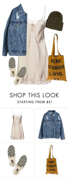 """""""night class"""" by chanelandcoke ❤ liked on Polyvore featuring Twin-Set, WithChic, Vans, Acne Studios and Accessorize"""