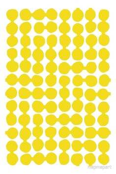 """""""Joined up Spots, yellow, white"""" by Paul Allitt for mapmapart 