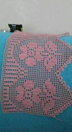 Fotograflar Crochet Art, Filet Crochet, Crochet Motif, Easy Crochet, Crochet Stitches, Crochet Boarders, Crochet Edging Patterns, Crochet Squares, Crochet Bedspread