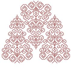Free blackwork chart, could work as Christmas Trees?