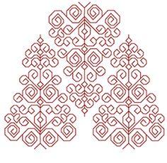 Free Blackwork Embroidery Pattern