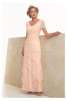 Pink Sleeveless V-neck Sheath Chiffon Mother Of Bride Dresses  Order in black