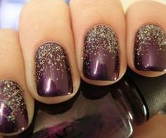 Glitter from the cuticle up...!