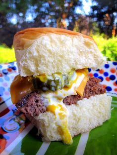Sliders - quick and easy. Bake the meat in 9x13-inch pan and cut into squares.
