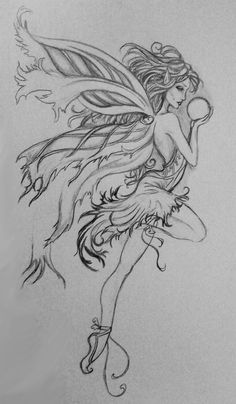 Fairy Drawings, Pencil Art Drawings, Art Drawings Sketches, Tattoo Drawings, Fairytale Drawings, Sketch Art, Tattoo Sketches, Tatoo Art, Body Art Tattoos