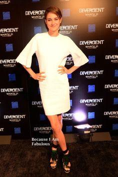 Fabulously Spotted:  Shailene Woodley Wearing Alexander McQueen - 'Divergent' Atlanta Screening - http://www.becauseiamfabulous.com/2014/03/shailene-woodley-wearing-alexander-mcqueen-divergent-atlanta-screening/