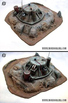 Bunker built into a rock outcropping + nice mechanical bits.