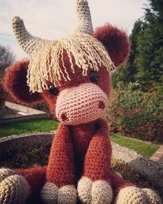 Crochet amigurumi highland cow Pattern by handmadebyjodie on Ravelry # crochet animals Hamish the Highland Cow (Coo) Crochet Cow, Crochet Animal Amigurumi, Ravelry Crochet, Crochet Animal Patterns, Stuffed Animal Patterns, Cute Crochet, Amigurumi Patterns, Crochet Dolls, Crotchet