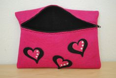 Hearts Clutch by GeauxCraft on Etsy, $12.00