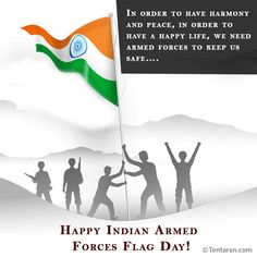 In order to have harmony and peace, in order to have a happy life, we need armed forces to keep us safe…. Happy Indian Armed Forces Flag Day 2020! Armed Forces Flag Day, English Quotes, Happy Life, Quote Of The Day, Status Wallpaper, Arms, Peace, Indian, Photos