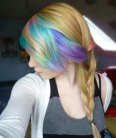 This is really pretty not so much color that it's her whole head but just enough to give it a little edge to it!!