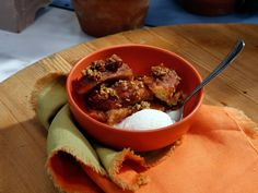 Sunny's Apple Cider Donut Pudding recipe from Sunny Anderson via Food Network (Season 7/Scary Good Recipes)