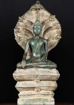 "Brass Beautiful Naga Buddha Statue 39"" Thai Buddha Statue, Buddha Art, Buddha Head, Buddha Statues, Lotus Sculpture, Buddha Sculpture, Sculpture Art, Sculptures, Asian Art Museum"