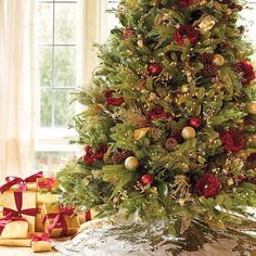 Parisian Christmas Large Tree Bouquets, Set of Two