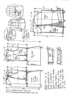 T Shirt Sewing Pattern, Collar Pattern, Pattern Drafting, Dress Sewing Patterns, Jacket Pattern, Sewing Patterns Free, Clothing Patterns, Sewing Coat, Sewing Clothes