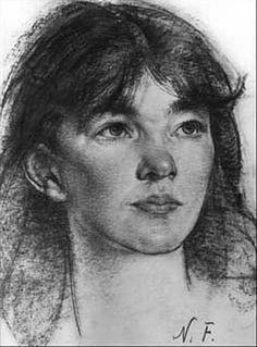 Young Woman by Nicolai  Ivanovich Fechin