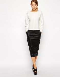 Enlarge ASOS Sweatshirt with Seam Front in Texture