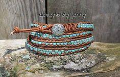 Leather Wrap Bracelet For Women , Beaded Wrap Bracelet, Leather Wrap Bracelet, Womens Leather Bracelet, Mens Leather Wrap Bracelet by hodgepodgecandles on Etsy